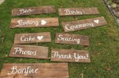 Wedding wood event tags