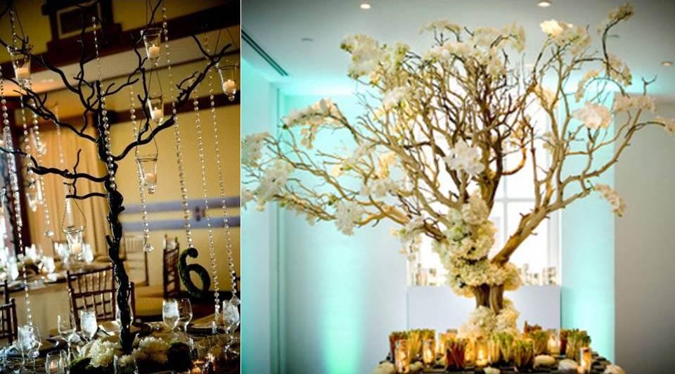 Alternative Wedding Flower Centerpieces Diy Branches Manzanita
