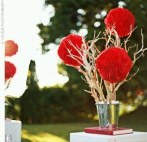 Decoración de Bodas, Centros de Mesa y Arreglos Florales Rojos 3