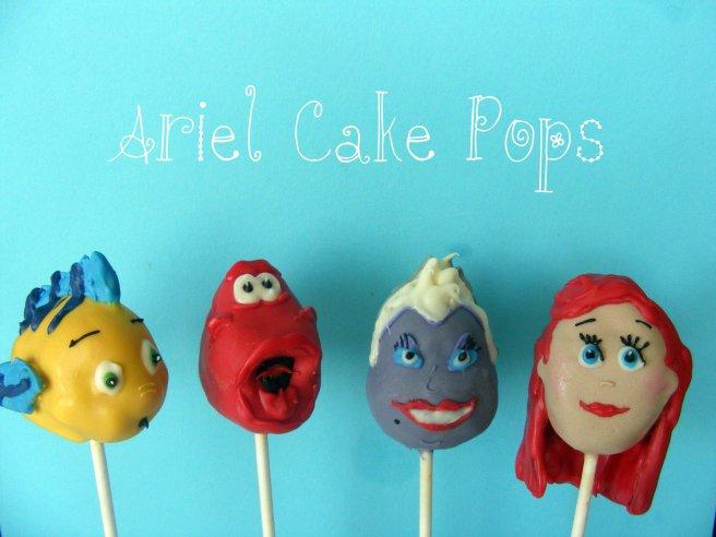 little mermaid pop cakes