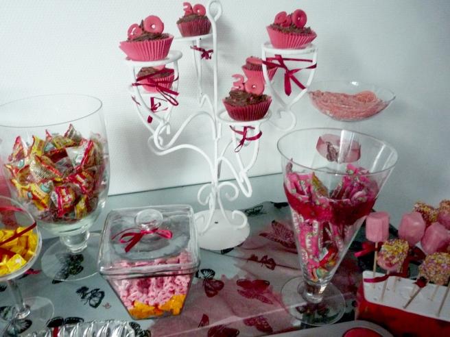 Burgundy Cupcakes Candy bar