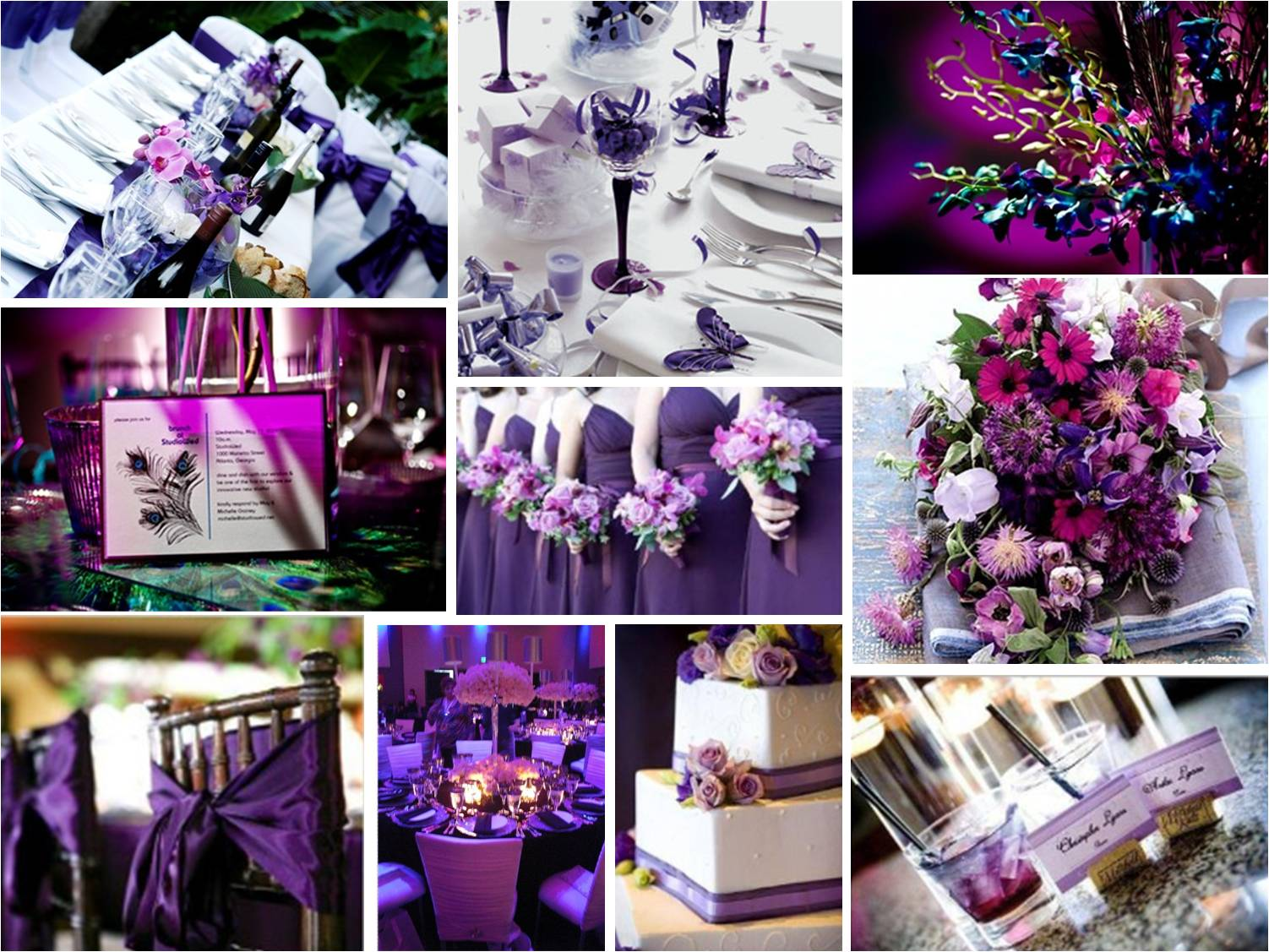 Wedding Purple Deco