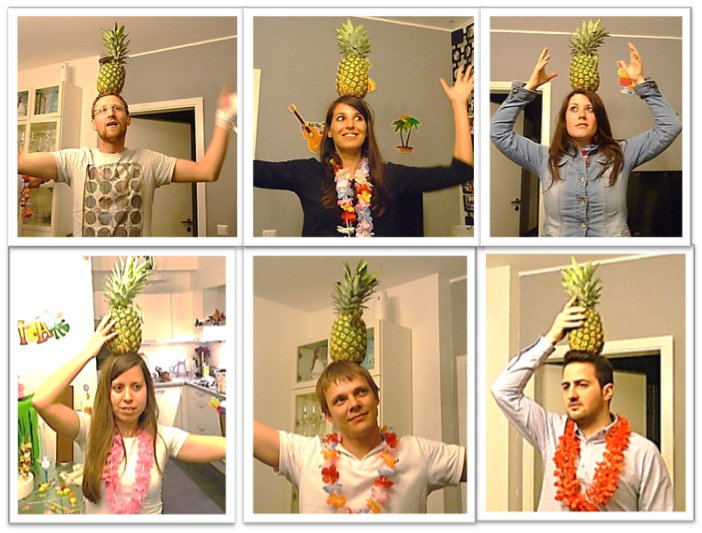 Hawaii party pineapple game