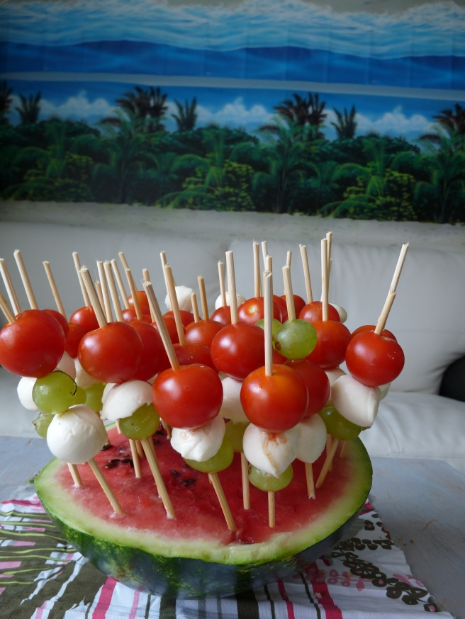 Hawaiian Party Watermelon Decoration